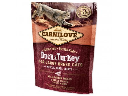 CARNILOVE Duck and Turkey Large Breed Cats Muscles, Bones, Joints