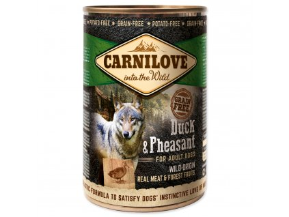 Konzerva CARNILOVE Dog Wild Meat Duck & Pheasant