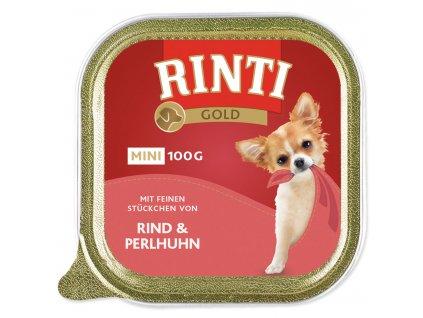 Vanička RINTI Gold Mini hovězí + perlička