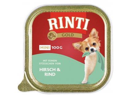 Vanička RINTI Gold Mini jelen + hovězí