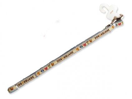 Vodítko DOG SQUARE Ribbon 120 x 1 cm