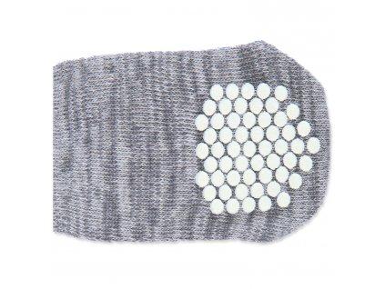 Ponožky TRIXIE protiskluzové šedé M-L