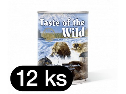 Taste of the Wild Pacific Stream Can Dog 12 x 390 g (balení)