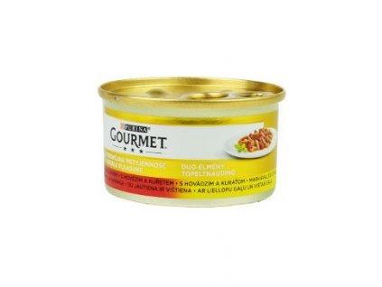 Gourmet Gold konz. kočka pašt. duš.hov.a kuře 85g