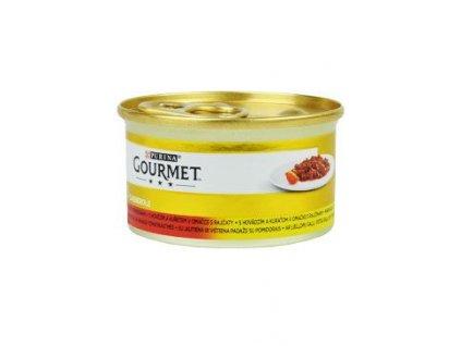 Gourmet Gold konz. kočka pašt.hov.a kuře v rajč.om.85g