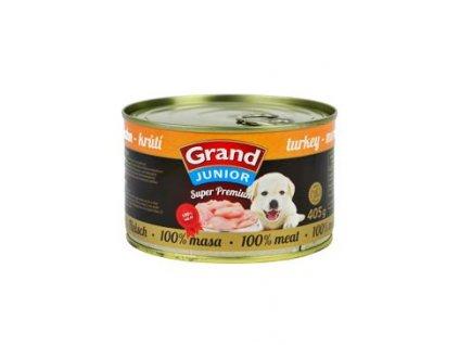 GRAND konz.  Superpremium Junior pes krůtí 405g