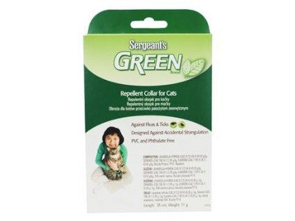 Sergeanťs Green obojek pro kočky 35cm 1ks