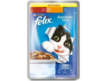 Felix cat kaps.-Fantastic DUO hovězí a drůbeží 100 g