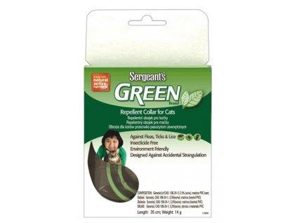 Sergeanťs Green repelentní obojek pro kočky 35 cm