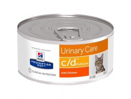 Hill's Feline C/D konzerva-hrubě mletá 156 g