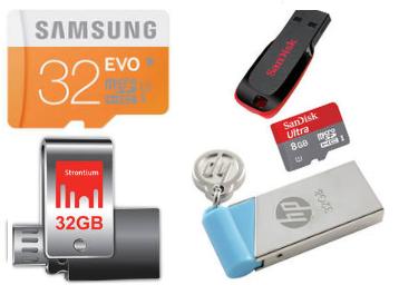 Flash disky, paměťové karty