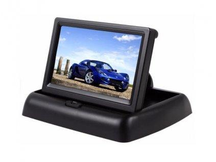Skloppný LCD monitor do auta s 10,9cm úhlopříčkou obrazovky, 2 video vstupy  LCD 4,3 GX01467