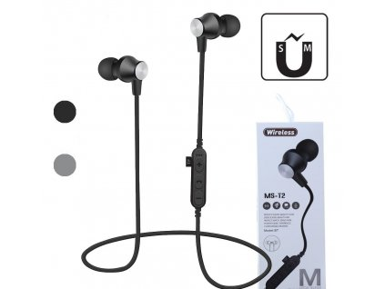 ms t2 magnetic bluetooth sport earphone wireless