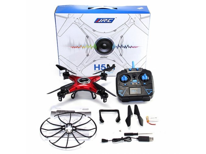 JJRC H5M RC Quadcopter Drone Headless Mode Onekey Return with Music Function Mode 2 Red nologo 600x600
