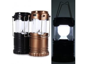 6 led hand lamp rechargable collapsible solar