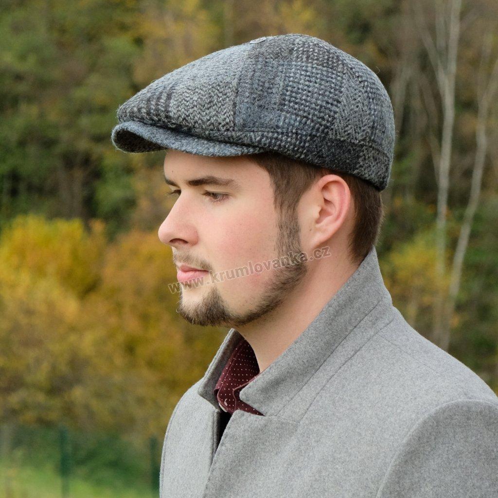 Vlněná bekovka Harris Tweed s klapkami na uši