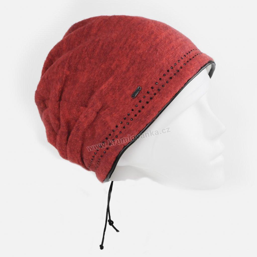 Dámská čepice podšitá fleecem W-0297/M6T červená