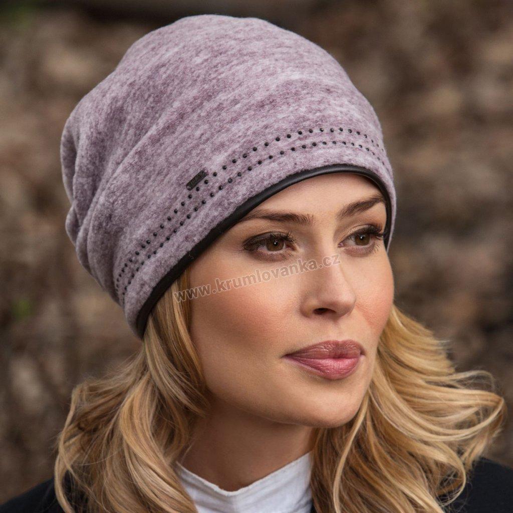 Dámská čepice podšitá fleecem
