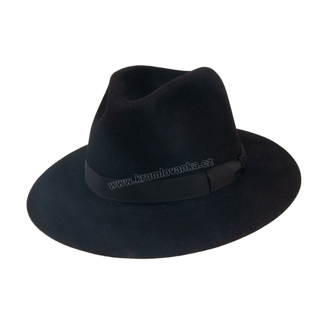 103044 Q9030 1 pansky plsteny klobouk cerny