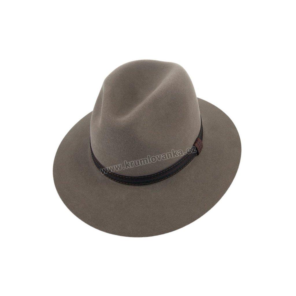 1204715 Q8007 3 pansky plsteny klobouk sedy