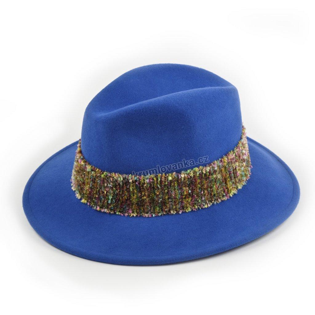 Dámský vlněný klobouk ISARCO modrý