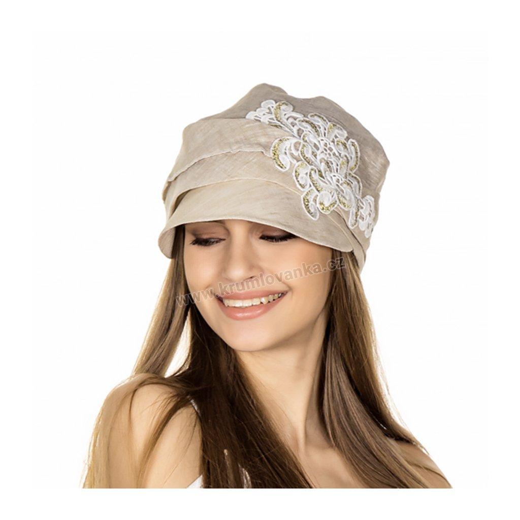412366 solar straw flax visored bandana tit212