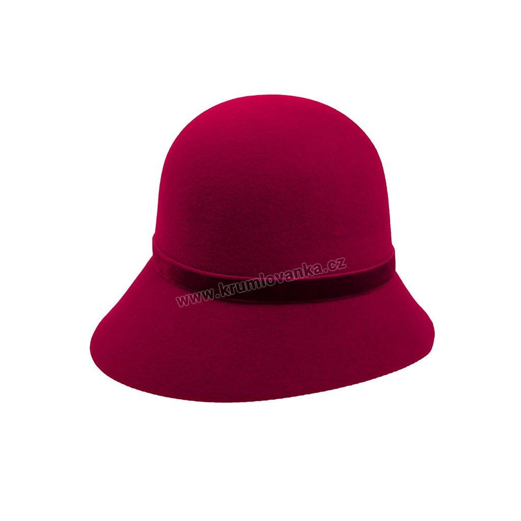 Dámský plstěný klobouk TONAK 52725/14 vínový Q1114