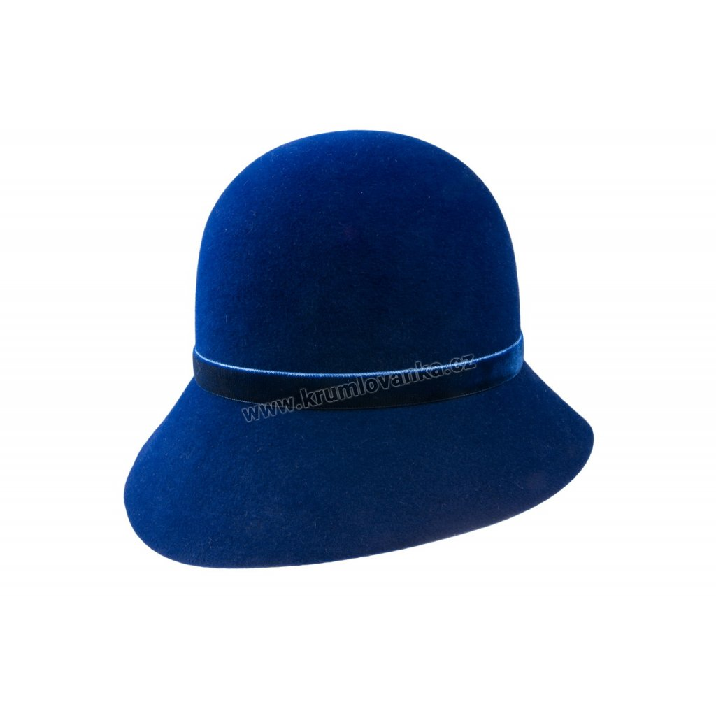 Dámský plstěný klobouk TONAK 52725/14 modrý Q  03334