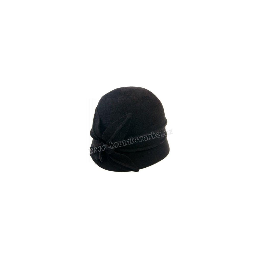Dámský plstěný klobouk TONAK s květem 52783/15 černá Q 9030