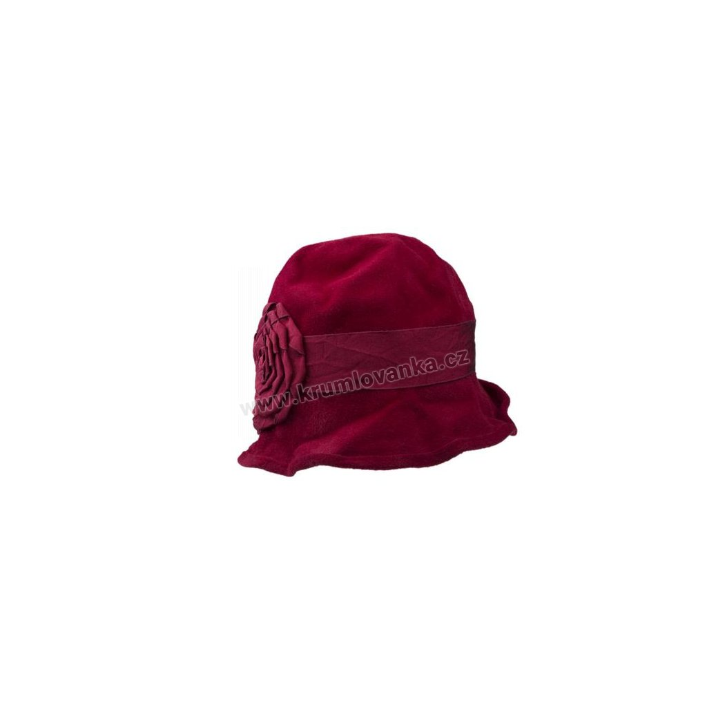 Dámský plstěný klobouk TONAK 53014/15 červená Q1140