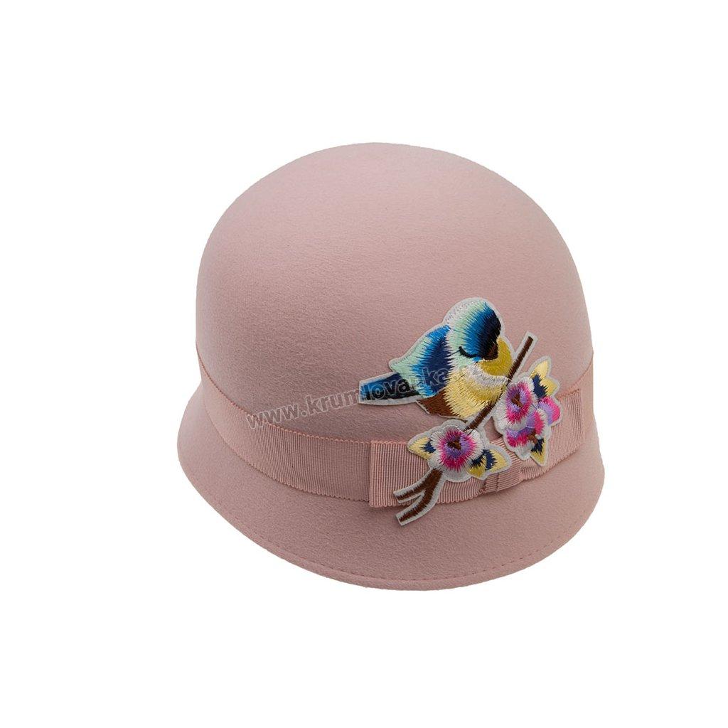 Dámský plstěný klobouk TONAK 41118/17 růžový Q 2154