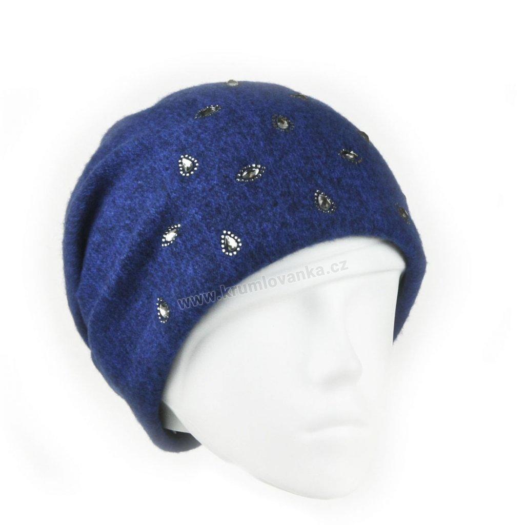 Dámnská vlněná čepice PEG modrá2