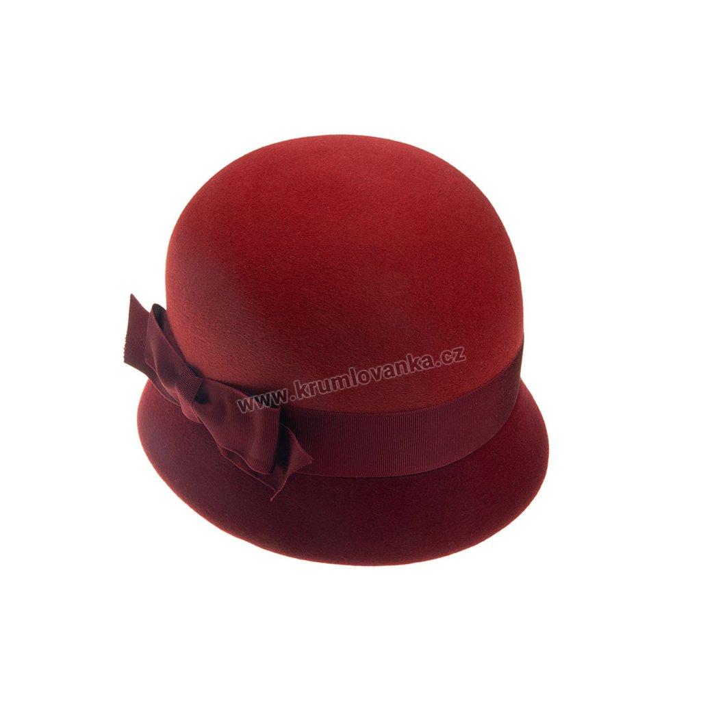 Dámský plstěný klobouk TONAK 53332/17 cihlově červený Q 1016