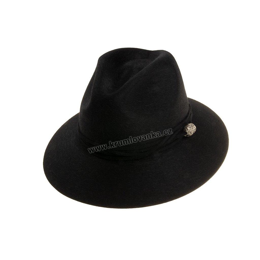 Plstěný klobouk TONAK FedoraEssence Twist 53534/18 černý
