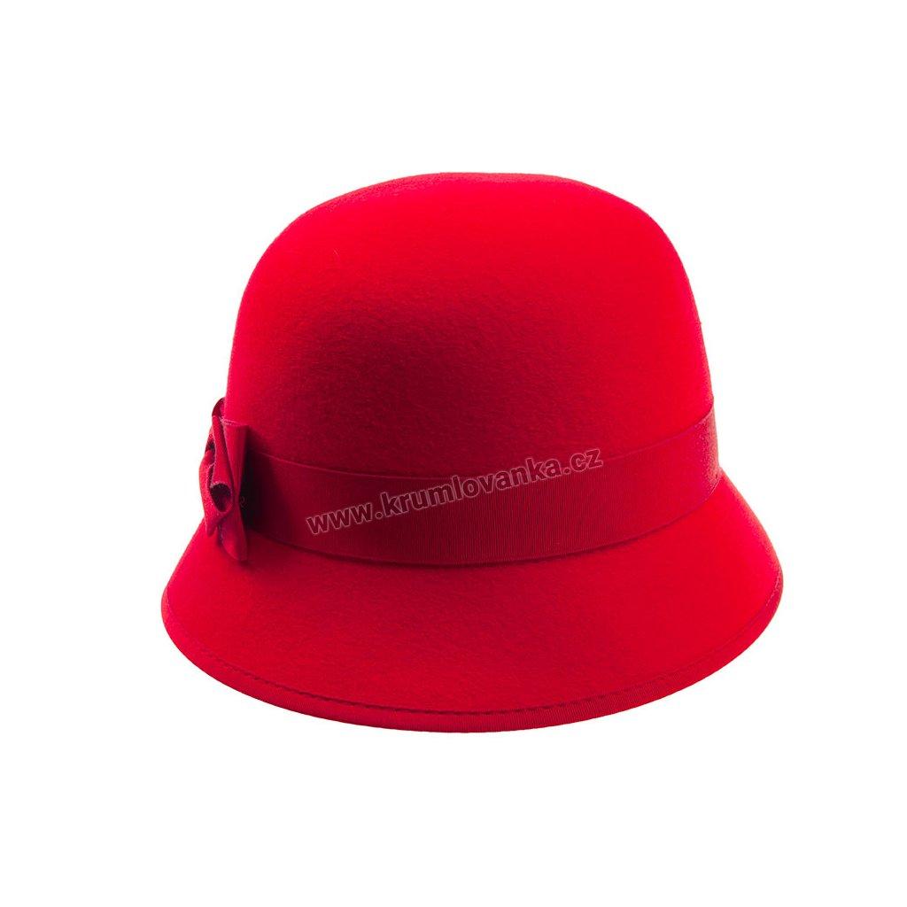5329517 Q1109 2 damsky plsteny klobouk cerveny
