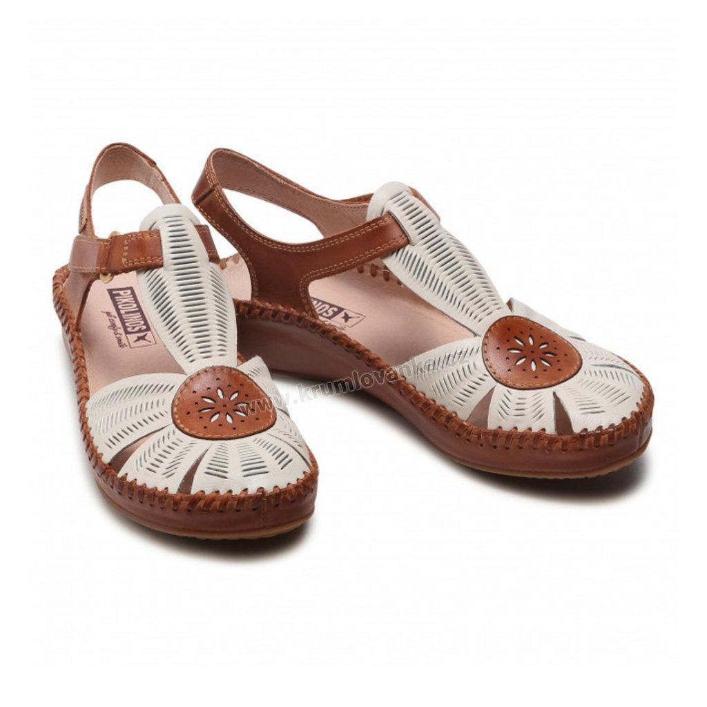Letní dámské boty PIKOLINOS 655-0575 NATA smetanové