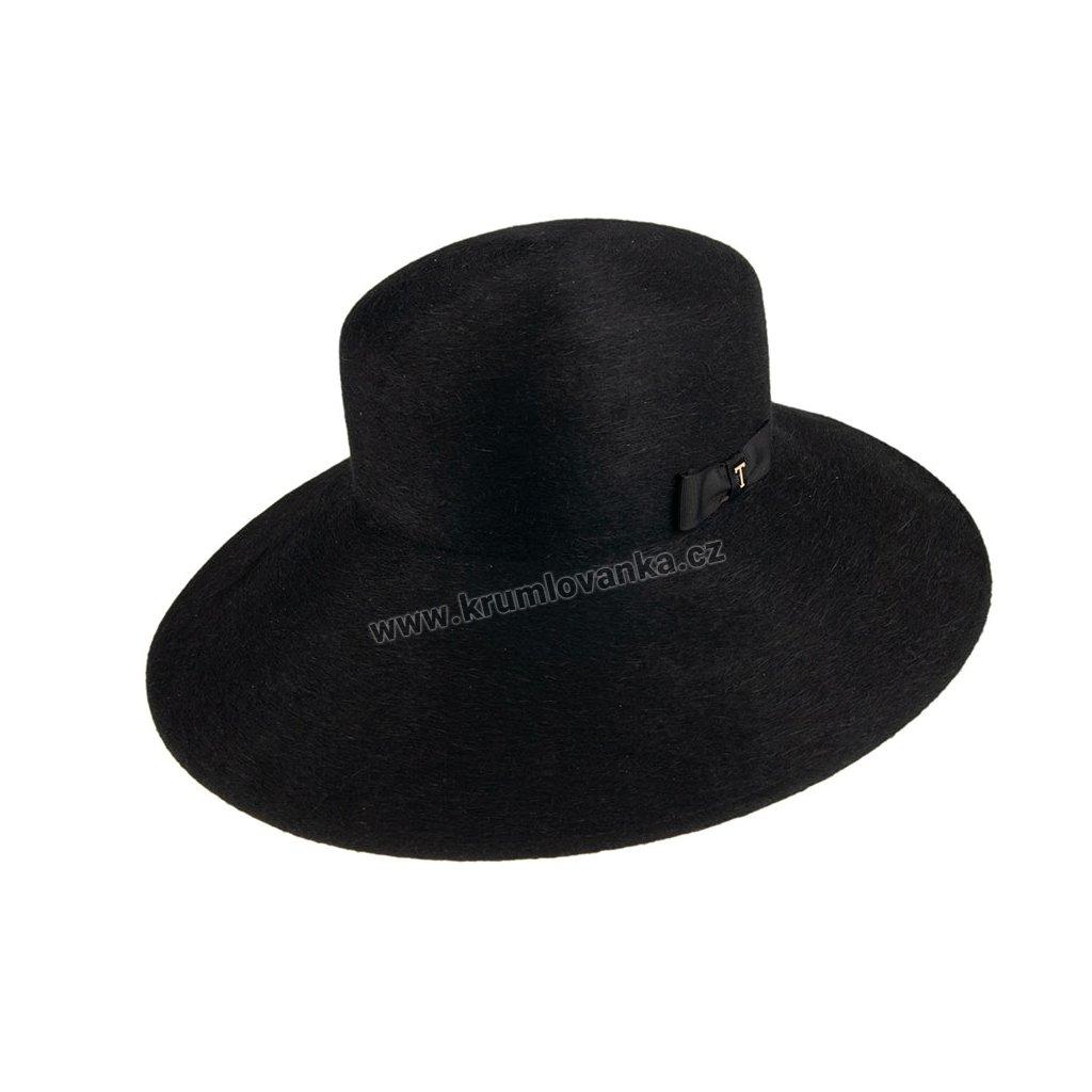 Plstěný klobouk TONAK Brim Hat Bartoli 53654/19 černý Q 9040