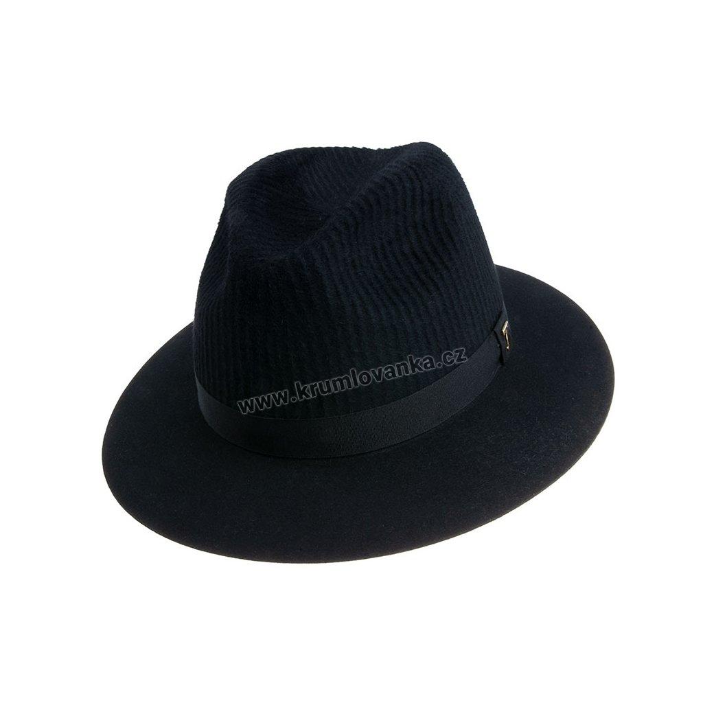 PLstěný klobouk TONAK Fedora Esprite Plan 12779/18 černý Q 9040P