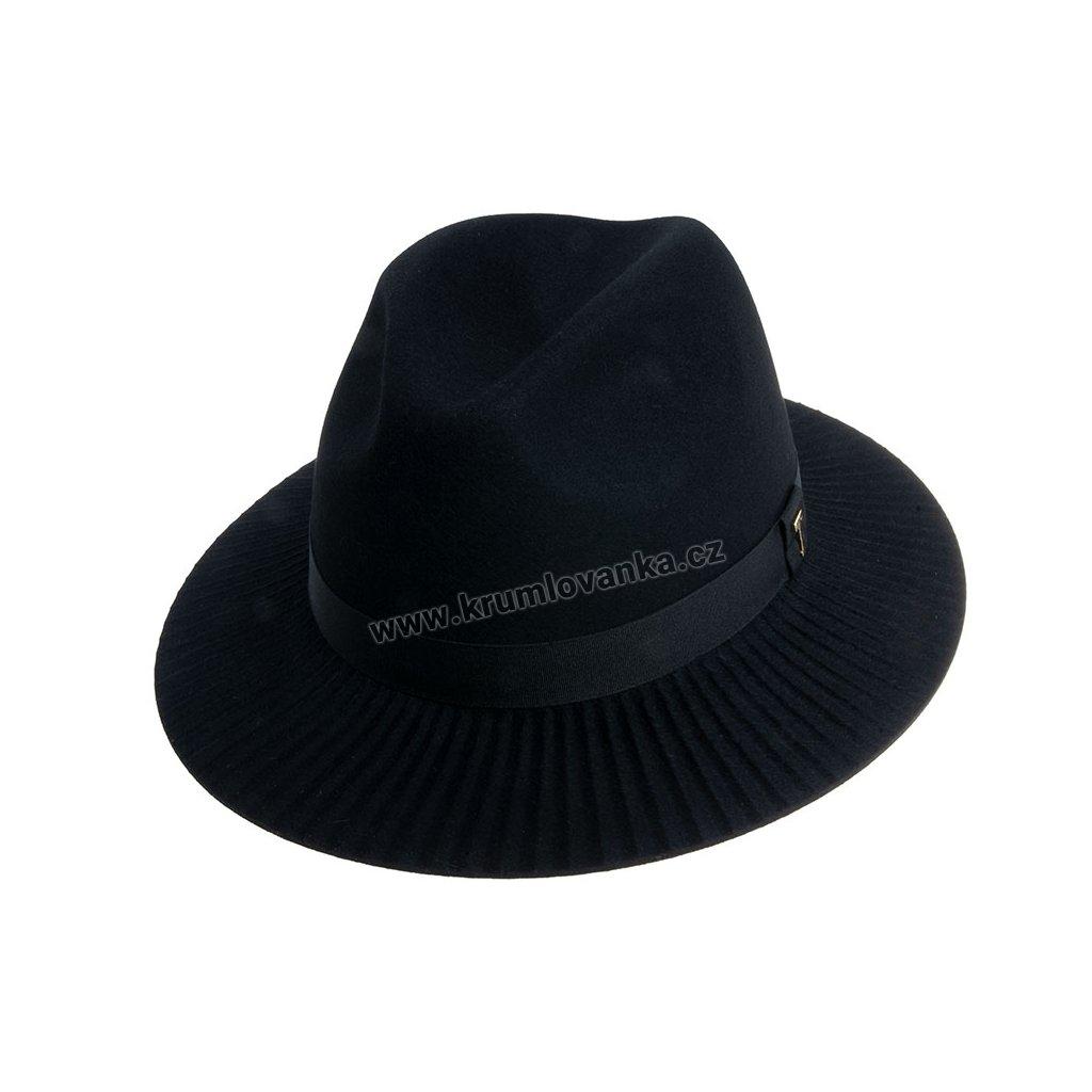 Plstěný klobouk TONAK Fedora Esprite Plan 12779/18 černý Q 9040