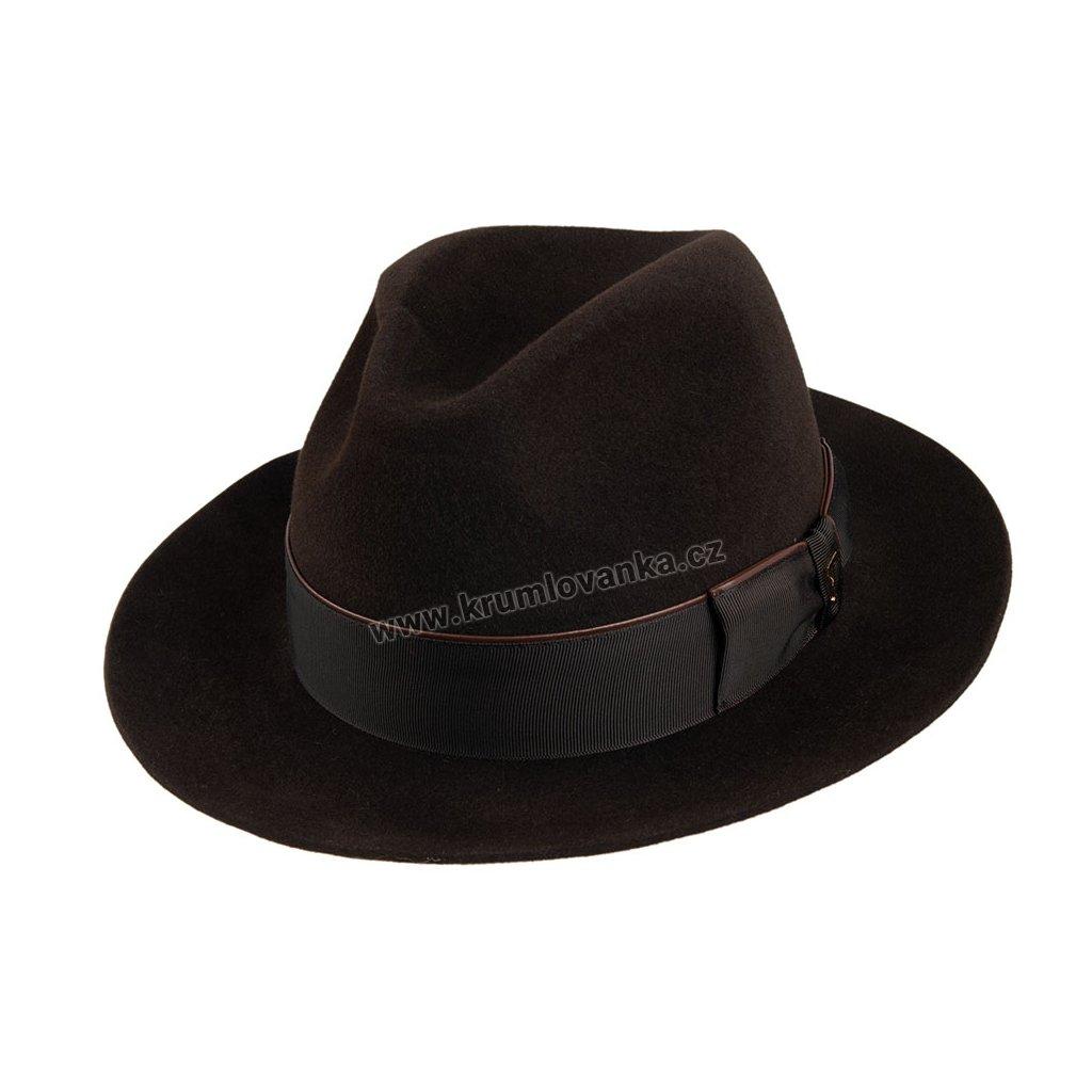 Plstěný klobouk TONAK Fedora Bocelli 12926/19 tmavě hnědý Q 6062