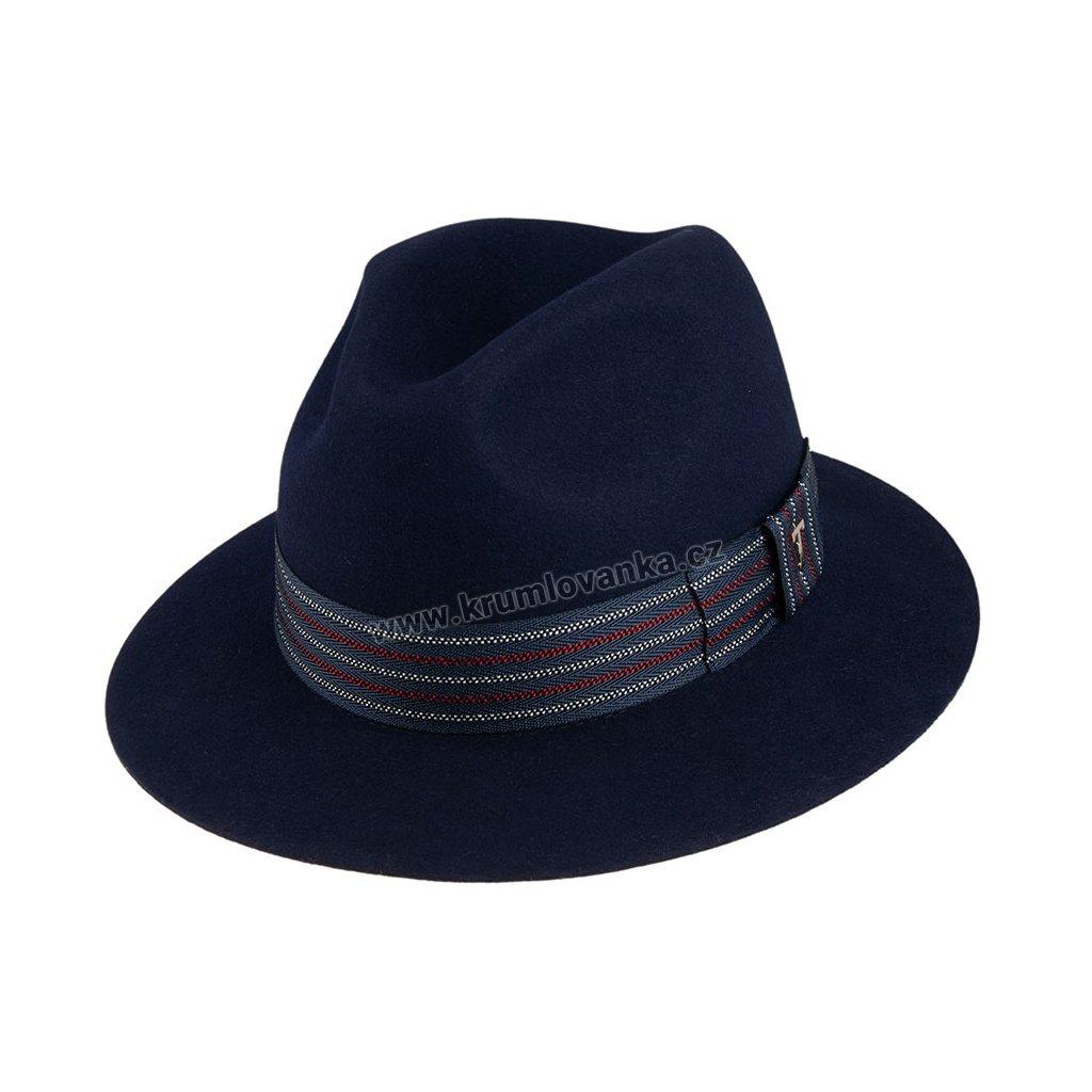 Plstěný klobouk TONAK  Fedora Glenn 12922/19 modrý Q 3109