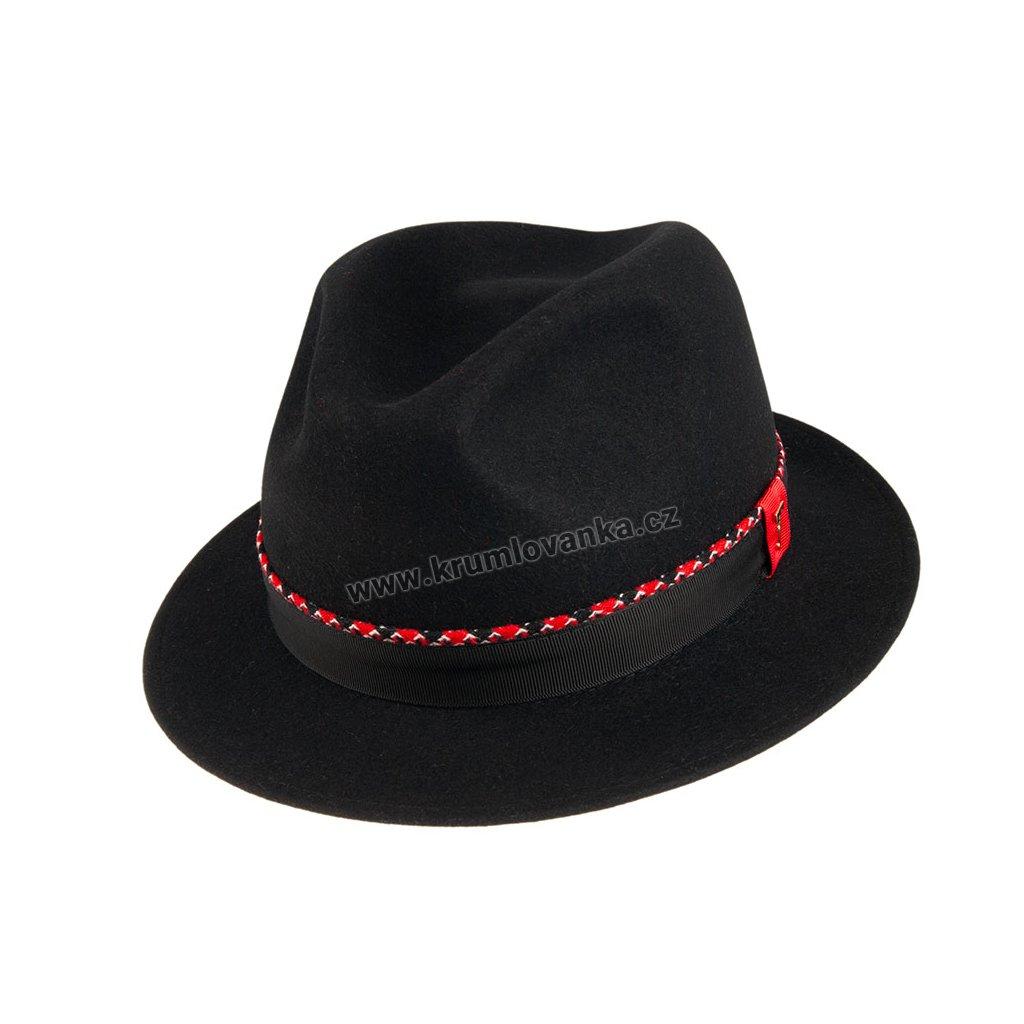 Plstěný klobouk TONAK Fedora Ella 53669/19 černý Q 9030