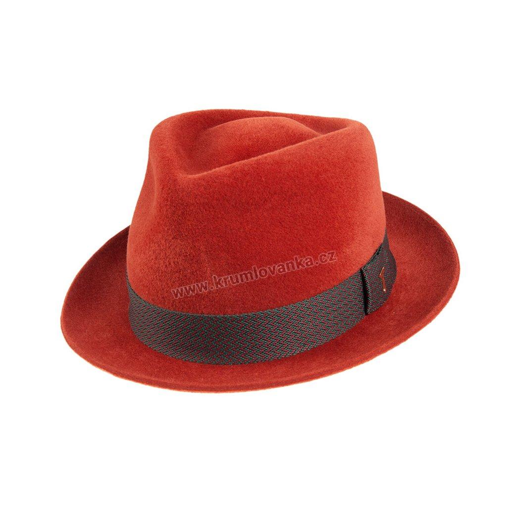Plstěný klobouk TONAK Fedora Benny 12924/19 hnědá Q 6008