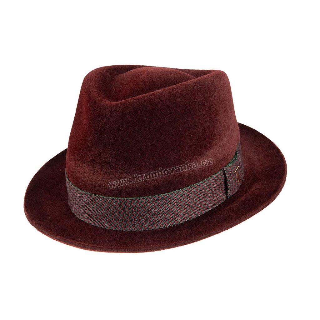 Plstěný klobouk TONAK Fedora Benny 12924/19 hnědý Q 6051