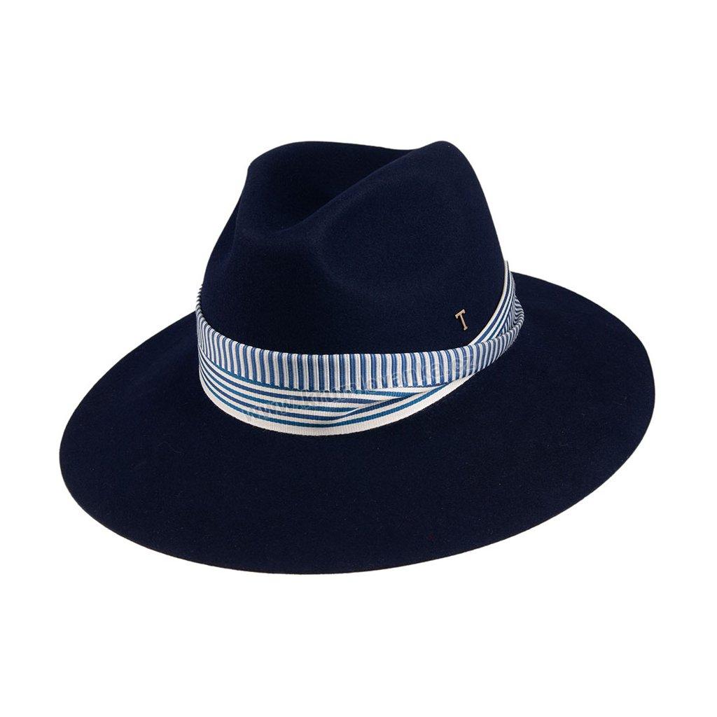 Plstěný klobouk TONAK Fedora Kelly 53648/19 modrý Q 3109