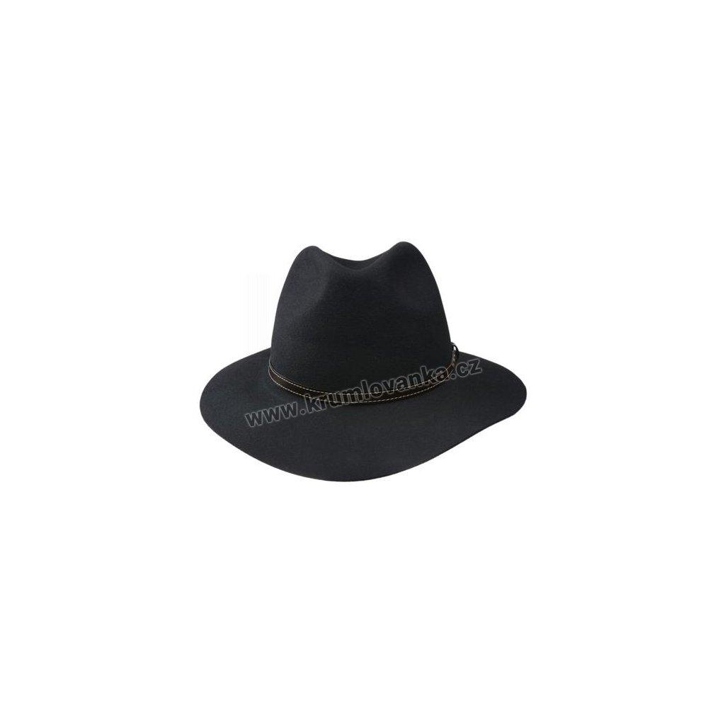 Luxusní plstěný klobouk TONAK 10374/07 černý Q 9030