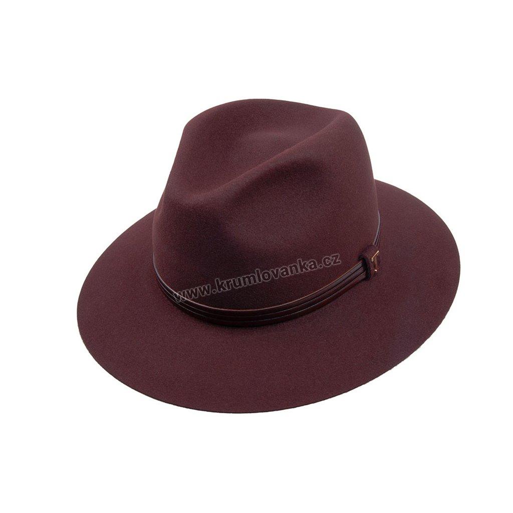 Plstěný klobouk TONAK Fedora Woodron Triple 12543/17 hnědý Q6051