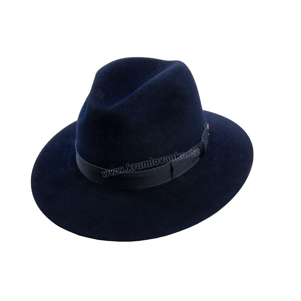 Plstěný klobouk TONAK Fedora Uomo Motivo 12767/18 tmavě modrý Q3333