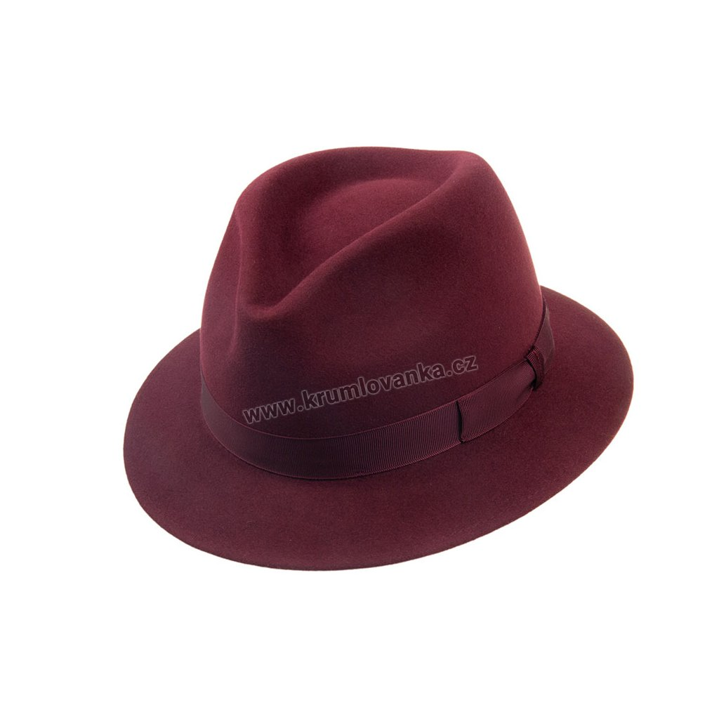 Plstěný klobouk TONAK 12877/19 vínový Q 1024