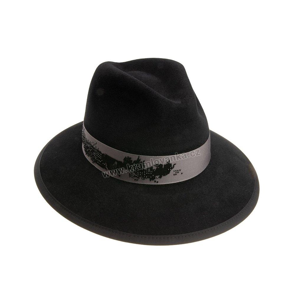 Plstěný klobouk TONAK Fedora Essence Éclat 53530/18 černý Q 9040